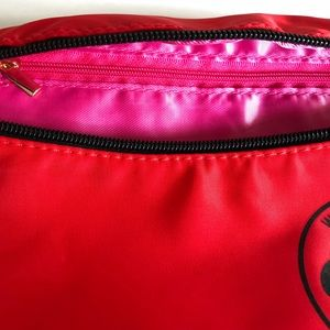 PINK Victoria's Secret Bags - $13❤️New VS PINK Red Satin Fanny Pack